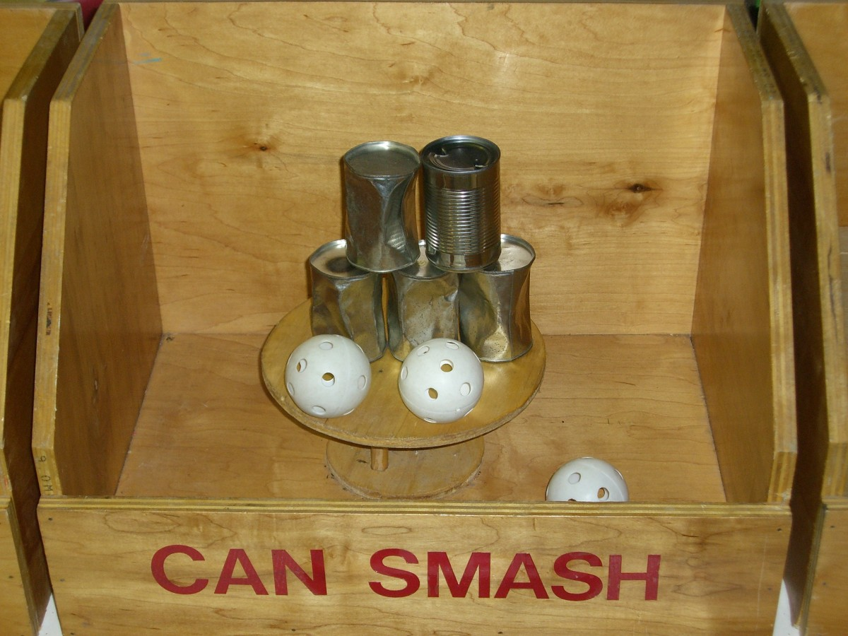 Wooden Game Can Smash